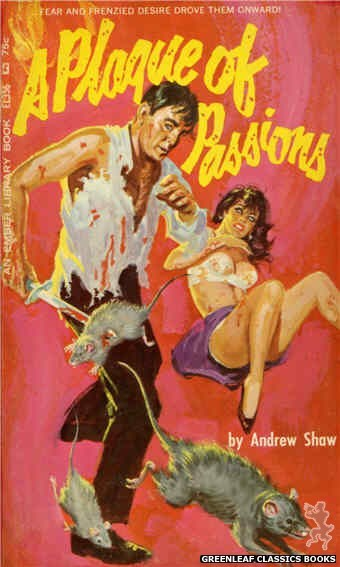 Ember Library EL 356 - A Plague of Passions by Andrew Shaw, cover art by Robert Bonfils (1966)