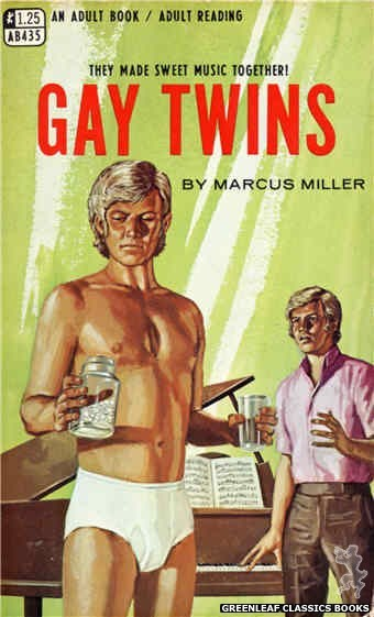 Adult Books AB435 - Gay Twins by Marcus Miller, cover art by Ed Smith (1968)