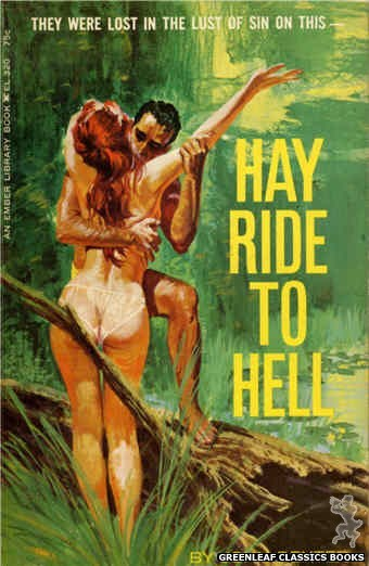 Ember Library EL 320 - Hay Ride to Hell by John Dexter, cover art by Robert Bonfils (1966)