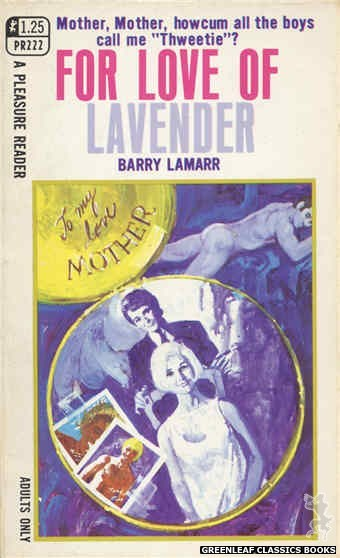 Pleasure Reader PR222 - For Love Of Lavender by Barry Lamarr, cover art by Unknown (1969)