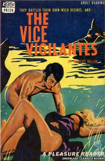 Pleasure Reader PR126 - The Vice Vigilantes by Marcus Miller, cover art by Tomas Cannizarro (1967)