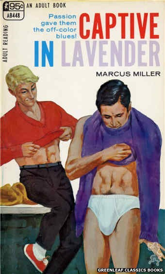 Adult Books AB448 - Captive in Lavender by Marcus Miller, cover art by Darrel Millsap (1968)