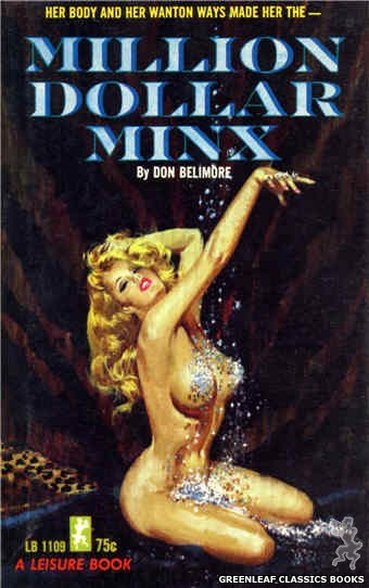 Leisure Books LB1109 - Million Dollar Minx by Don Belimore, cover art by Robert Bonfils (1965)