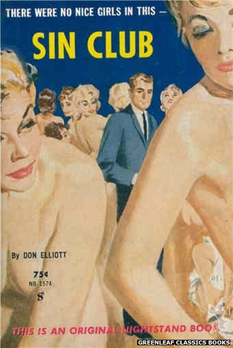 Nightstand Books NB1574 - Sin Club by Don Elliott, cover art by Harold W. McCauley (1961)