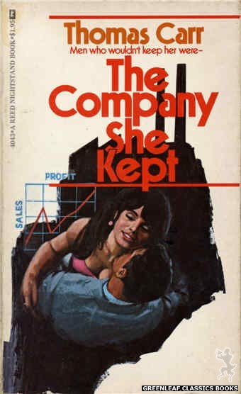 Reed Nightstand 4043 - The Company She Kept by Thomas Carr, cover art by Ed Smith (1974)