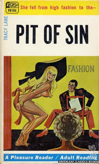 Pleasure Reader PR184 - Pit Of Sin by Tracy Lane, cover art by Tomas Cannizarro (1968)