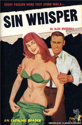 Evening Reader ER768 - Sin Whisper by Alan Marshall, cover art by Unknown (1965)