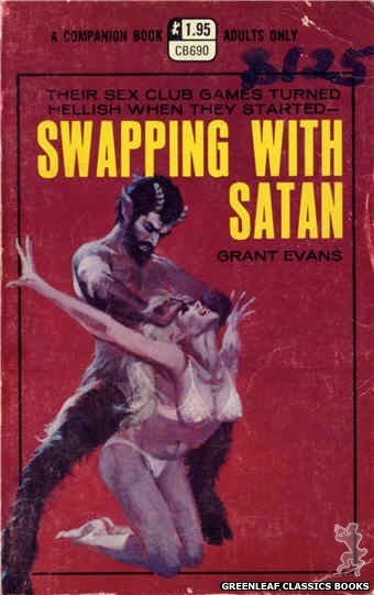 Companion Books CB690 - Swapping With Satan by Grant Evans, cover art by Robert Bonfils (1970)