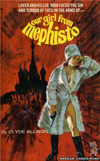 Ember Library EL 305 - Our Girl From Mephisto by Clyde Allison, cover art by Robert Bonfils (1965)