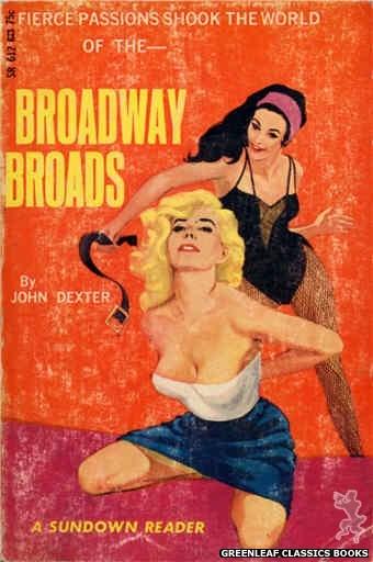 Sundown Reader SR612 - Broadway Broads by John Dexter, cover art by Darrel Millsap (1966)
