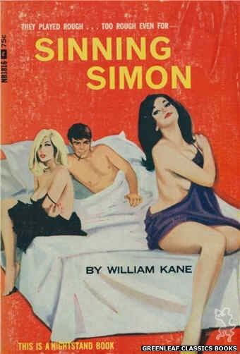 Nightstand Books NB1816 - Sinning Simon by William Kane, cover art by Unknown (1966)