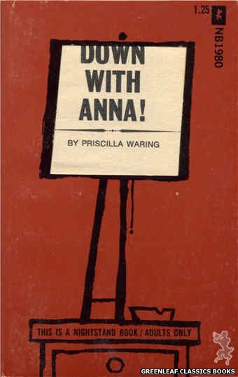 Nightstand Books NB1980 - Down With Anna! by Priscilla Waring, cover art by Cut Out Cover (1970)