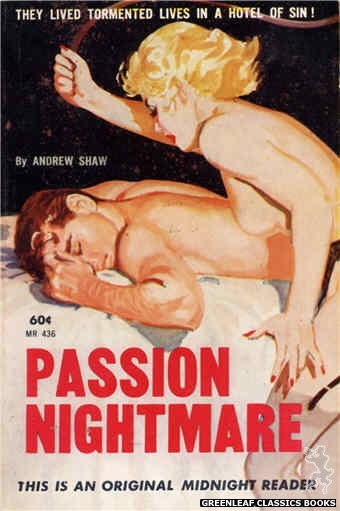 Midnight Reader 1961 MR436 - Passion Nightmare by Andrew Shaw, cover art by Harold W. McCauley (1962)