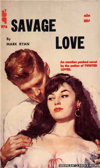 Bedside Books BTB 976 - Savage Love by Mark Ryan, cover art by Unknown (1960)