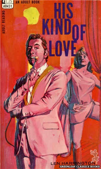 Adult Books AB431 - His Kind Of Love by Len Harrington, cover art by Darrel Millsap (1968)