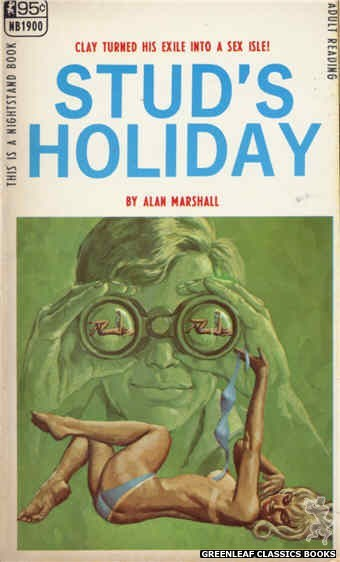 Nightstand Books NB1900 - Stud's Holiday by Alan Marshall, cover art by Ed Smith (1968)