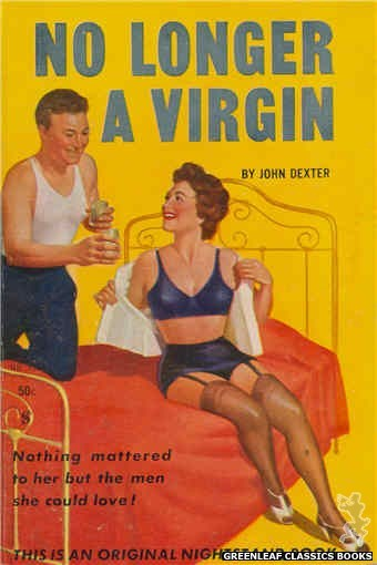 Nightstand Books NB1513 - No Longer A Virgin by John Dexter, cover art by Harold W. McCauley (1960)