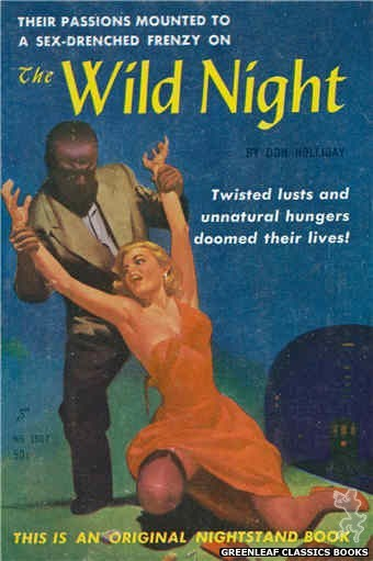 Nightstand Books NB1507 - The Wild Night by Don Holliday, cover art by Harold W. McCauley (1960)