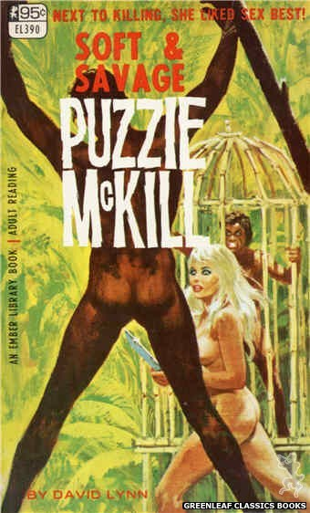 Ember Library EL 390 - Soft & Savage Puzzie McKill by David Lynn, cover art by Robert Bonfils (1967)