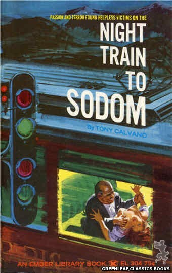 Ember Library EL 304 - Night Train To Sodom by Tony Calvano, cover art by Robert Bonfils (1965)