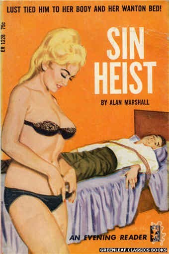 Evening Reader ER1228 - Sin Heist by Alan Marshall, cover art by Unknown (1966)