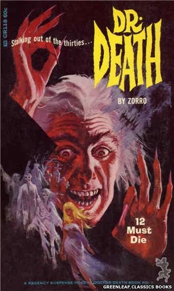 Corinth Regency CR118 - 12 Must Die by Zorro, cover art by Robert Bonfils (1966)