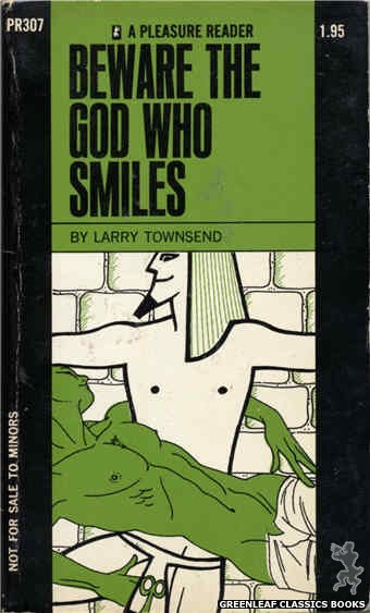 Pleasure Reader PR307 - Beware The God Who Smiles by Larry Townsend, cover art by Harry Bremner (1971)