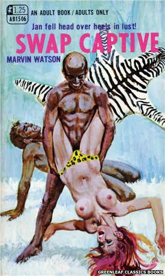 Adult Books AB1506 - Swap Captive by Marvin Watson, cover art by Robert Bonfils (1969)