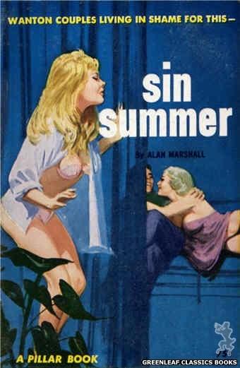 Pillar Books PB834 - Sin Summer by Alan Marshall, cover art by Robert Bonfils (1964)