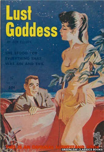Nightstand Books NB1544 - Lust Goddess by Don Elliott, cover art by Unknown (1961)