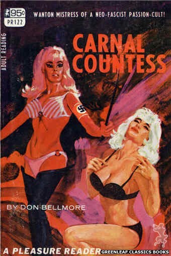 Pleasure Reader PR122 - Carnal Countess by Don Bellmore, cover art by Darrel Millsap (1967)