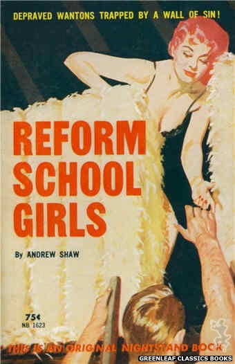 Nightstand Books NB1623 - Reform School Girls by Andrew Shaw, cover art by Harold W. McCauley (1962)