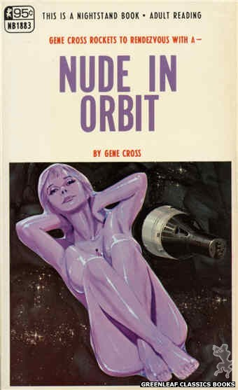 Nightstand Books NB1883 - Nude In Orbit by Gene Cross, cover art by Darrel Millsap (1968)