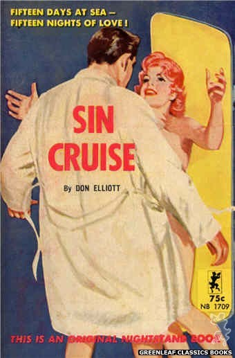 Nightstand Books NB1709 - Sin Cruise by Don Elliott, cover art by Harold W. McCauley (1964)