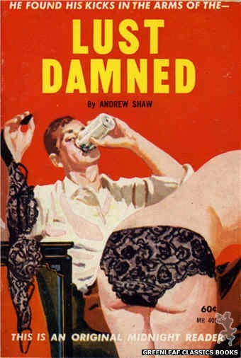Midnight Reader 1961 MR405 - Lust Damned by Andrew Shaw, cover art by Harold W. McCauley (1961)