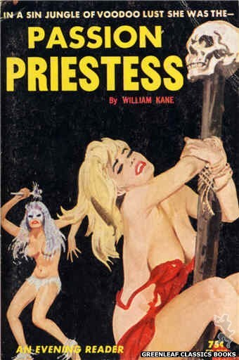 Evening Reader ER738 - Passion Priestess by William Kane, cover art by Unknown (1964)
