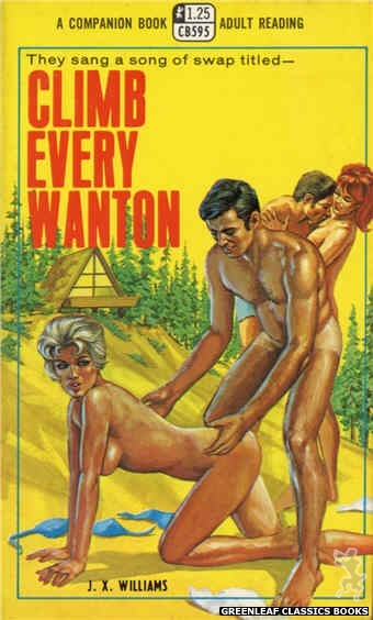 Companion Books CB595 - Climb Every Wanton by J.X. Williams, cover art by Ed Smith (1968)