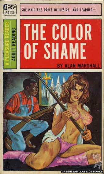Pleasure Reader PR130 - The Color Of Shame by Alan Marshall, cover art by Ed Smith (1967)