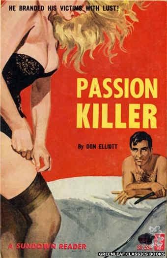 Sundown Reader SR534 - Passion Killer by Don Elliott, cover art by Robert Bonfils (1965)