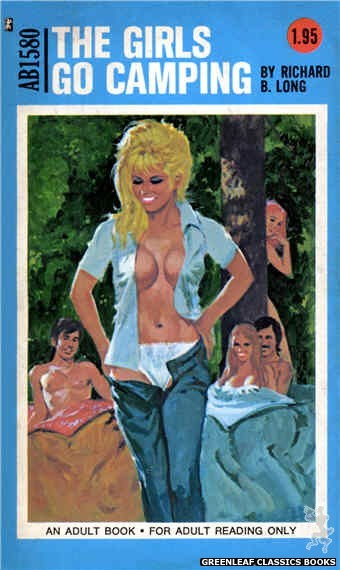 Adult Books AB1580 - The Girls Go Camping by Richard B. Long, cover art by Unknown (1971)