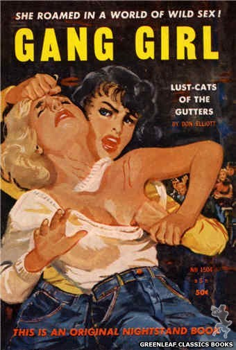 Nightstand Books NB1504 - Gang Girl by Don Elliott, cover art by Harold W. McCauley (1959)