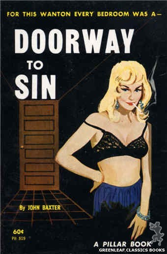 Pillar Books PB819 - Doorway To Sin by John Baxter, cover art by Unknown (1964)
