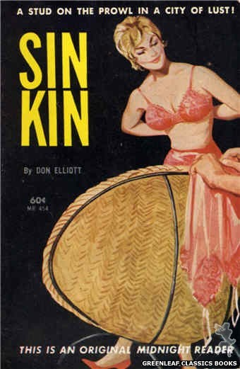 Midnight Reader 1961 MR454 - Sin Kin by Don Elliott, cover art by Unknown (1962)