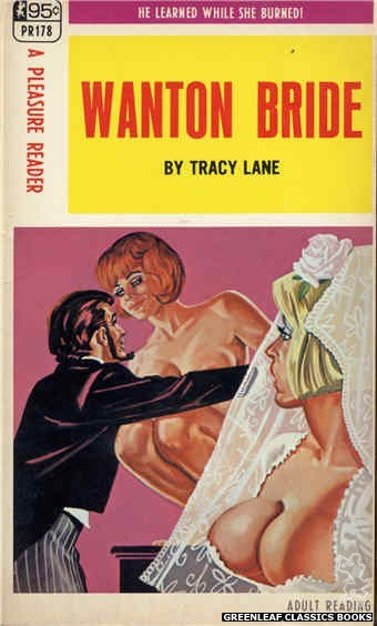 Pleasure Reader PR178 - Wanton Bride by Tracy Lane, cover art by Tomas Cannizarro (1968)
