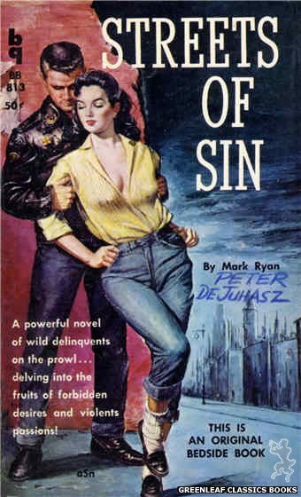 Bedside Books BB 813 - Streets of Sin by Mark Ryan, cover art by Unknown (1959)