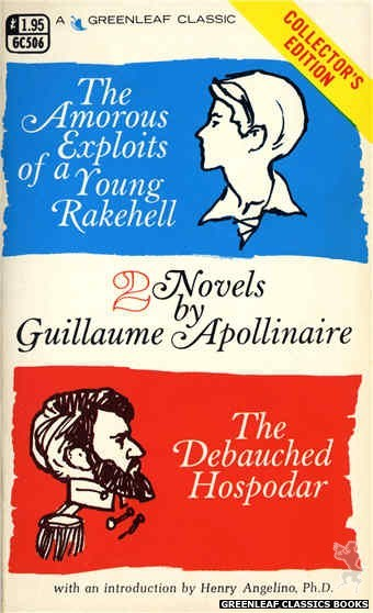 Greenleaf Classics GC506 - Amorous Exploits of a Young Rakehell by Guillaume Apollinaire, cover art by Unknown (1974)
