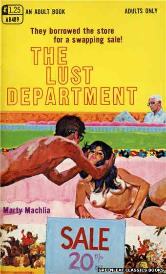 Adult Books AB489 - The Lust Department by Marty Machlia, cover art by Robert Bonfils (1969)