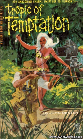 Leisure Books LB1182 - Tropic Of Temptation by John Dexter, cover art by Darrel Millsap (1966)