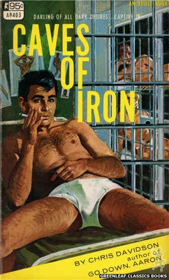 Adult Books AB403 - Caves Of Iron by Chris Davidson, cover art by Robert Bonfils (1967)
