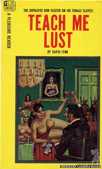 Pleasure Reader PR185 - Teach Me Lust by David Lynn, cover art by Tomas Cannizarro (1968)